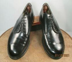 Wolverine World Wide Inc. Navy Military Service Black Leather Shoes Size 9 Wide