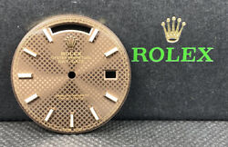 Rolex Mens Daydate 40mm Chocolate Dial Rose Gold Stick Markers President 228235