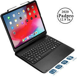 [360 Rotate And 180 Flip Cover] Fits Ipad Pro 12.9 4th 2020 Case With Keyboard