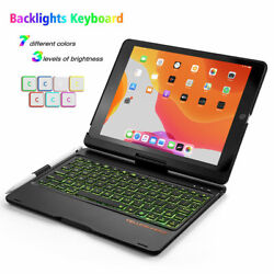 Rugged Ipad 10.2 Case With Real Keyboard Auto Sleep/wake Smart Cover For Apple