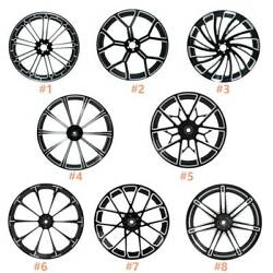 18and039and039 X 3.5and039and039 Front Wheel Rim Hub Single/dual Disc Fit For Harley Road King 08-21