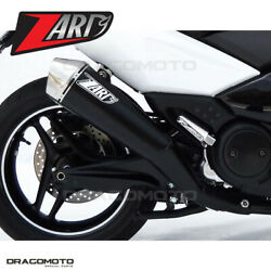 Yamaha T-max 2008 2009 Full Exhaust Zard Conical Black Rc Zy092skr+p2kit
