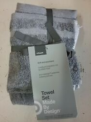 4pk Hand And Wash Towel Set Soft And Absorbent Oeko-tek Certified - Made By Design