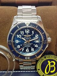 Breitling Superocean Ii 42mm A17365 Blue Dial 2019 With Papers