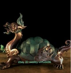 Hotel Home Decoration Copper Chinese Myth Wealth Beast Dragon Tortoise Sculpture