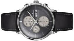 Junghans Meister Chronoscope Self-winding Menand039s Watch 027/4525.01 Grey Dial New