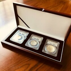 Pete Rose Baseball Hall Of Fame Signed Gold Silver Clad Half Coin – 3 Piece