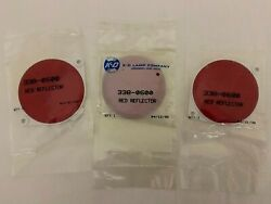 3 New K-d Lamp Co. 3 Mountable Red Reflectors 338-0600 Trucks Trailers Bicycles