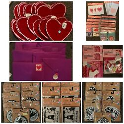 Huge Lot Of Target Valentine Day Cards, Treat Bags And Boxes