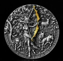 Niue 2019 - It Goddesses - Artemis - High Relief - 2 Silver Coin 2 Oz