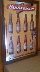 Beautiful 1998 Anheuser-busch Mirror The Classic American Lager Since 1876