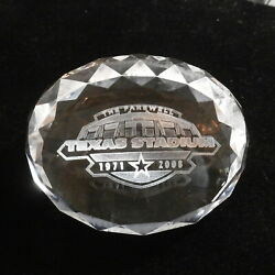 Rare Nfl Dallas Cowboys Farewell To Texas Stadium 1971-2008 Crystal Paperweight