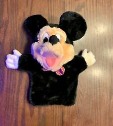 Vintage Disney 12andrdquo Mickey Mouse Plush Hand Puppet Applause