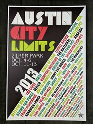 Austin City Limits Acl 2013 Music Festival Poster Texas Concert Poster 13x19