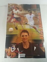 2005 Mia Hamm Poster 11 X 17 Kellogg's Frosted Flakes Earn Your Stripes