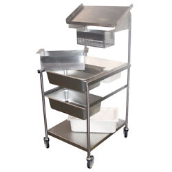 Mobile Bread And Batter Station Full Size Stainless Steel