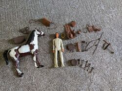 Vintage Marx Johnny West Geronimo With Storm Cloud Horse 28 Accessories- Vg Cond