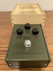 Vintage Sovtek Russian Big Muff Tall Font Fuzz Pedal Excellent Condition W/box