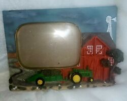 John Deere Tractor Red Barn Farm Picture Photo Frame 3d Collectible