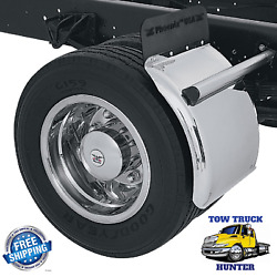 Low Deck Stainless Quarter-fenders,qf21. Rollback, Wrecker, Tow Truck, Flatbed.