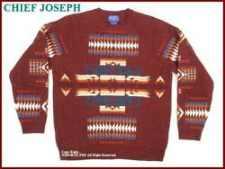 Pendleton Authentic Chief Joseph Sweater Burgundy Size M New Unused From Japan