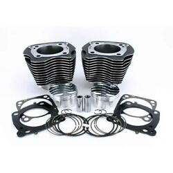 Zipper's Big Bore Cyl Kit Domed Pistons +6cc 107 To 117 Harley Milwaukee 8 17-up