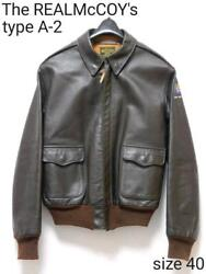 The Real Mccoy's Horsehide A-2 Flight Jacket Men Genuine Size 40 Used 1990s F/s