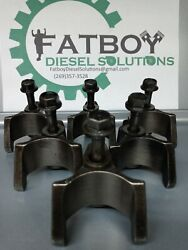 Detroit Series 60 12.7 Injector Hold Down Clamp Bracket With Bolts And...
