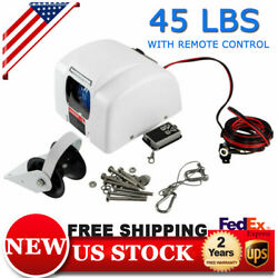 45 Lbs Saltwater Boat Electric Windlass Anchor Winch Marine With Wireless Remote
