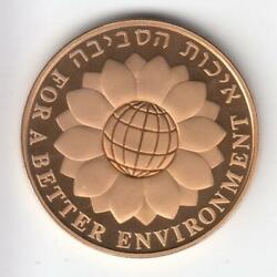 1994 Israel's 46th Anniversary For A Better Environment Proof Coin 1/2 Oz Gold