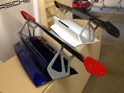 Porsche 997 And 997.2 Gt3rs Style Trunk Aluminum Legs And Carbon Fiber Wing Spoiler