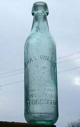 Antique Toronto Ontario Blob Top Tall Soda Bottle And039charles Wilsonand039 Free Ship