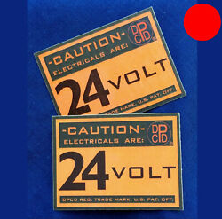 ✅ Dpcd 24 V Electrical Firewall Warning Label, For Dodge Military Truck Plymouth