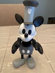 Disney Mickey Mouse Steam Boat Bobble Head Wood Le 623/2500 Rare