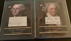 George And Martha Washington The Bar 2020 Pieces Of The Past Handwriting Relics