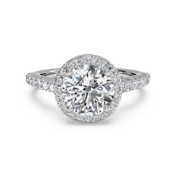 14k Solid White Gold 0.80 Ct Round Real Diamond Wedding Ring Size 4.5 5 6 8 7 9