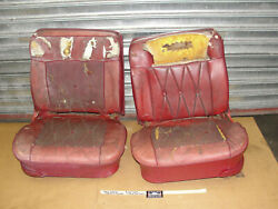 Oem 1964 64 Cadillac Coupe Deville Convertible Bucket Seats W/ Power Seat Tracks
