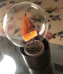Sailboat Ship Boat Aerolux Vintage Neon Style Glowing Light Bulb Figural Noag