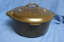 Griswold No.9 Cast Iron Dutch Oven With Lid Big Block Logo
