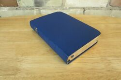 Vintage Oxford Kjv Brevier Text Bible, Blue Leather, Edge Lined Cover