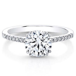 Round Cut 0.53 Ct Real Diamond Wedding Ring 14k Solid White Gold Size 6 7 8 9