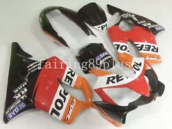 Orange Red Black Repsol Abs Injection Fairing Kit Fit For 2004-07 Cbr600 F4i