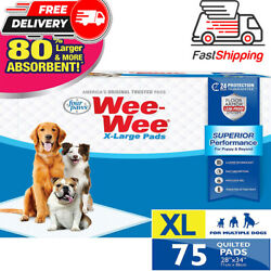 Wee-wee Puppy Training Pee Pads 75-count 28 X 34 X-large Size Pads For Dogs..