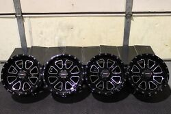 Yamaha Grizzly 660 14 System 3 St-4 Machined / Blk Atv Wheels Set 4 Irs1ca