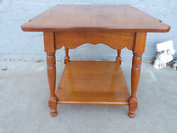 Solid Maple Maplelux Sprague And Carleton Early American End Table Vintage 1960