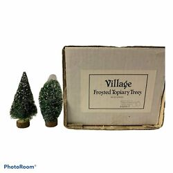 Department 56 Dickens Village - Frosted Topiary Trees Set Of 8 Retired
