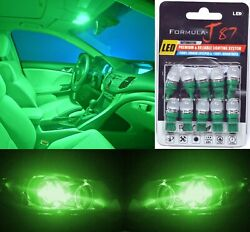Led 5050 Light Green 194 Ten Bulbs Interior Dome Replacement Festoon Lamp Oe Fit