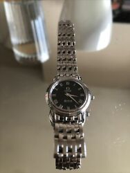 Omega Deville Prestige 4570.52 22mm Stainless Steel Black Dial Box/authenticity