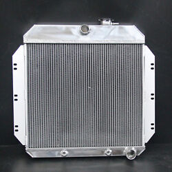3row Aluminum Radiator Fit Chevrolet Chevy C30 Pickup 60-62 At 52mm 6062