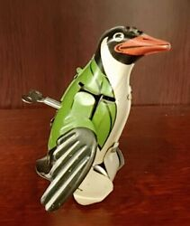 Antique Made In France Gigi The Flapping Penguin Wind-up Tin Toy, Works With Key
